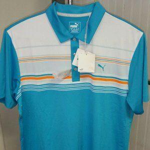 Puma Golf Jersey Key Stripe dryCELL Polo Shirt